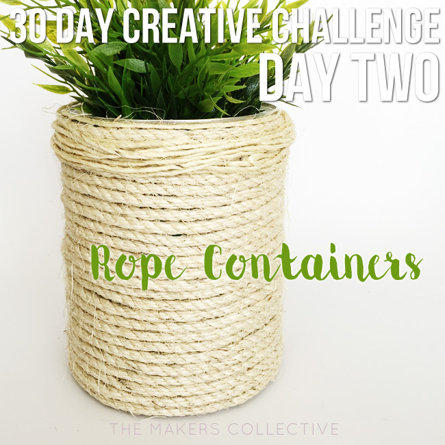 creative challenge rope-containers