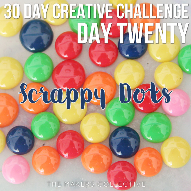 creative challenge scrappy-dots