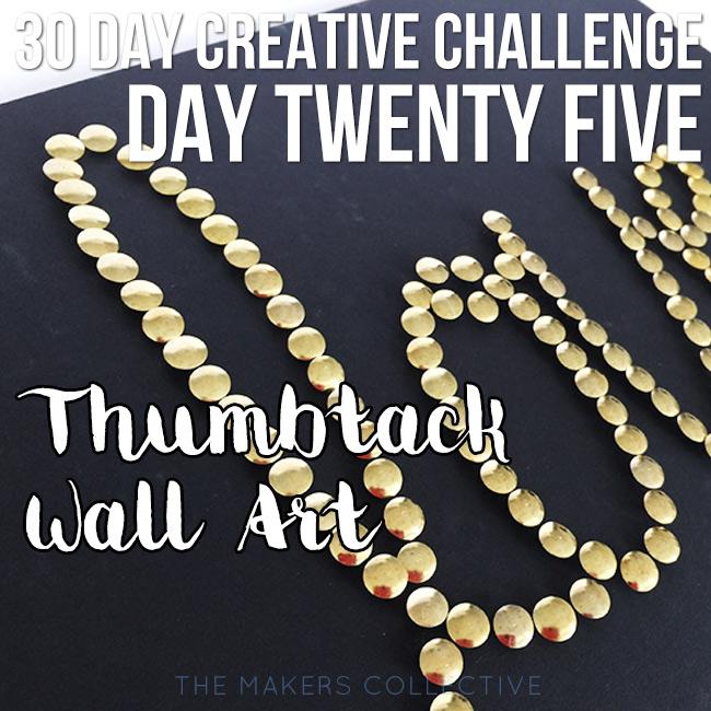 creative challenge thumbtack-wall-art