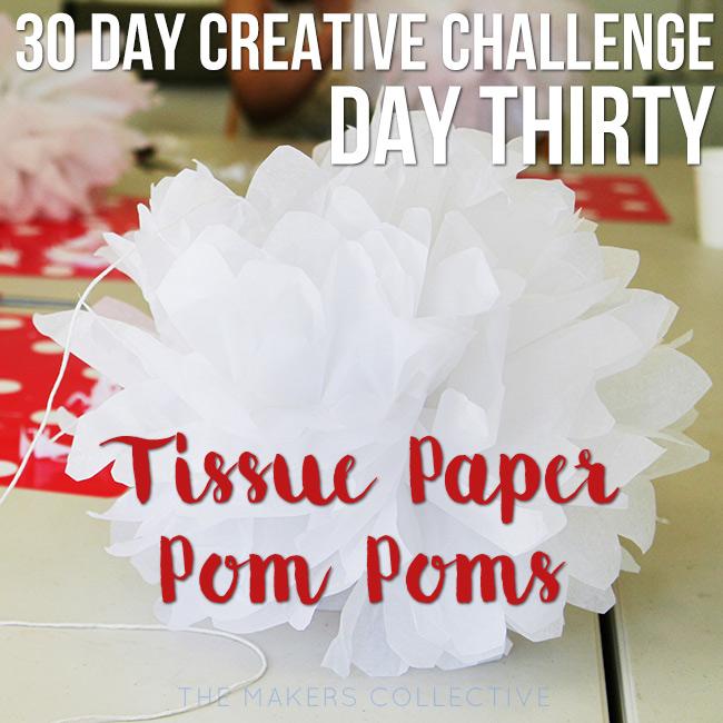 tissue-paper-pom-poms creative challenge