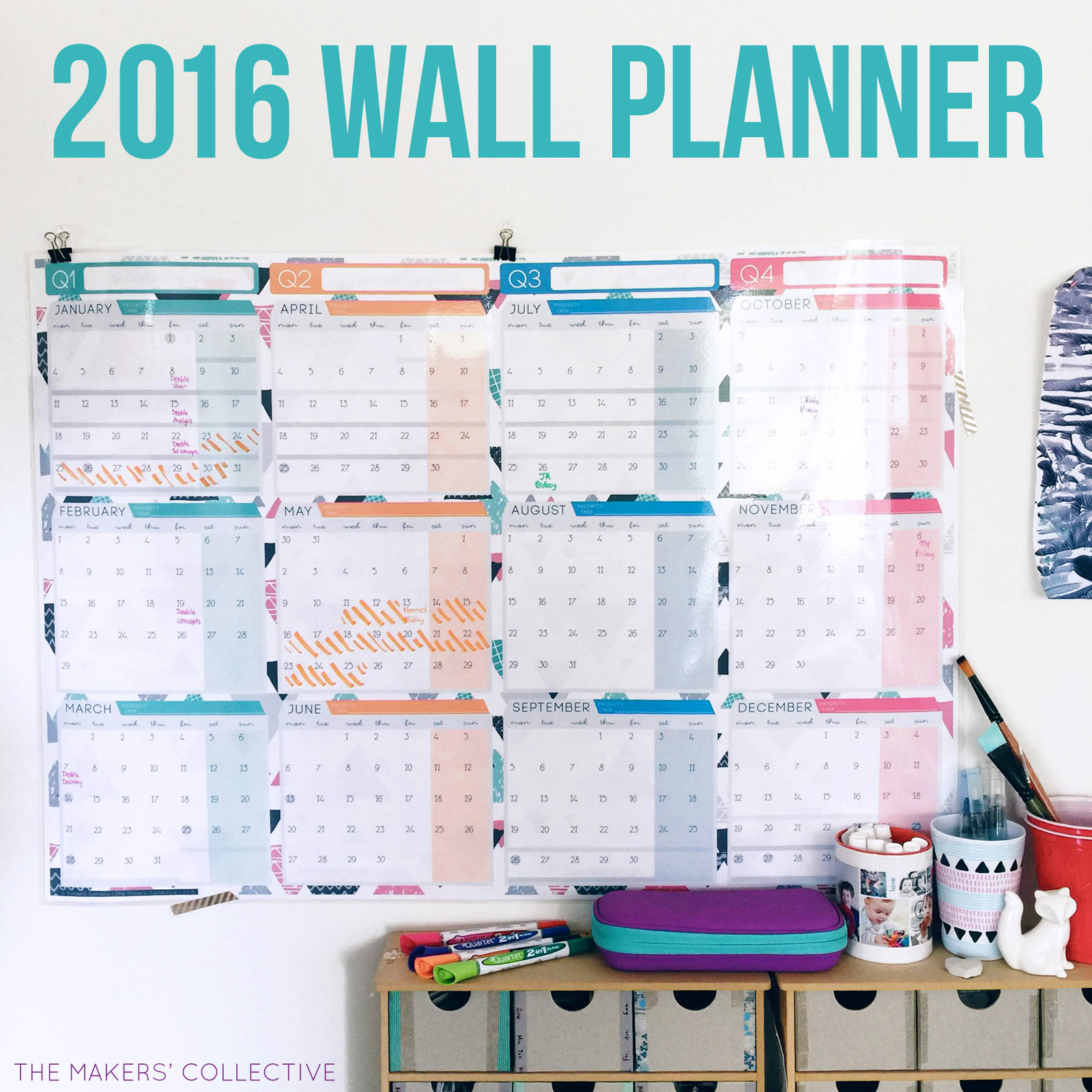 Year Calendar Officeworks : The wall planner design has landed makers