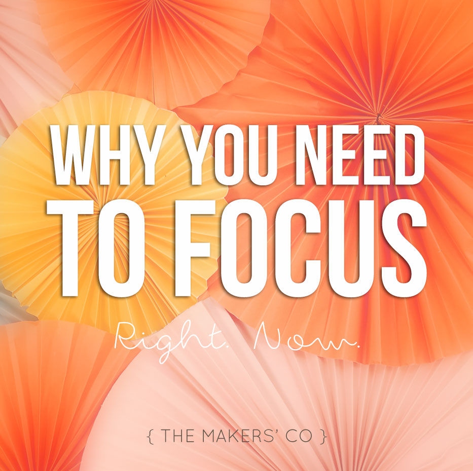Why you need to FOCUS in your creative business