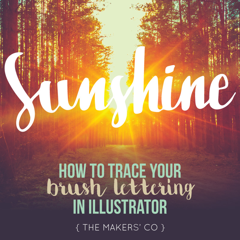 How to trace hand lettering in Illustrator