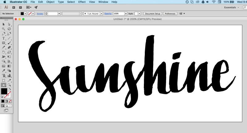 How To Trace Your Hand Lettering In Illustrator