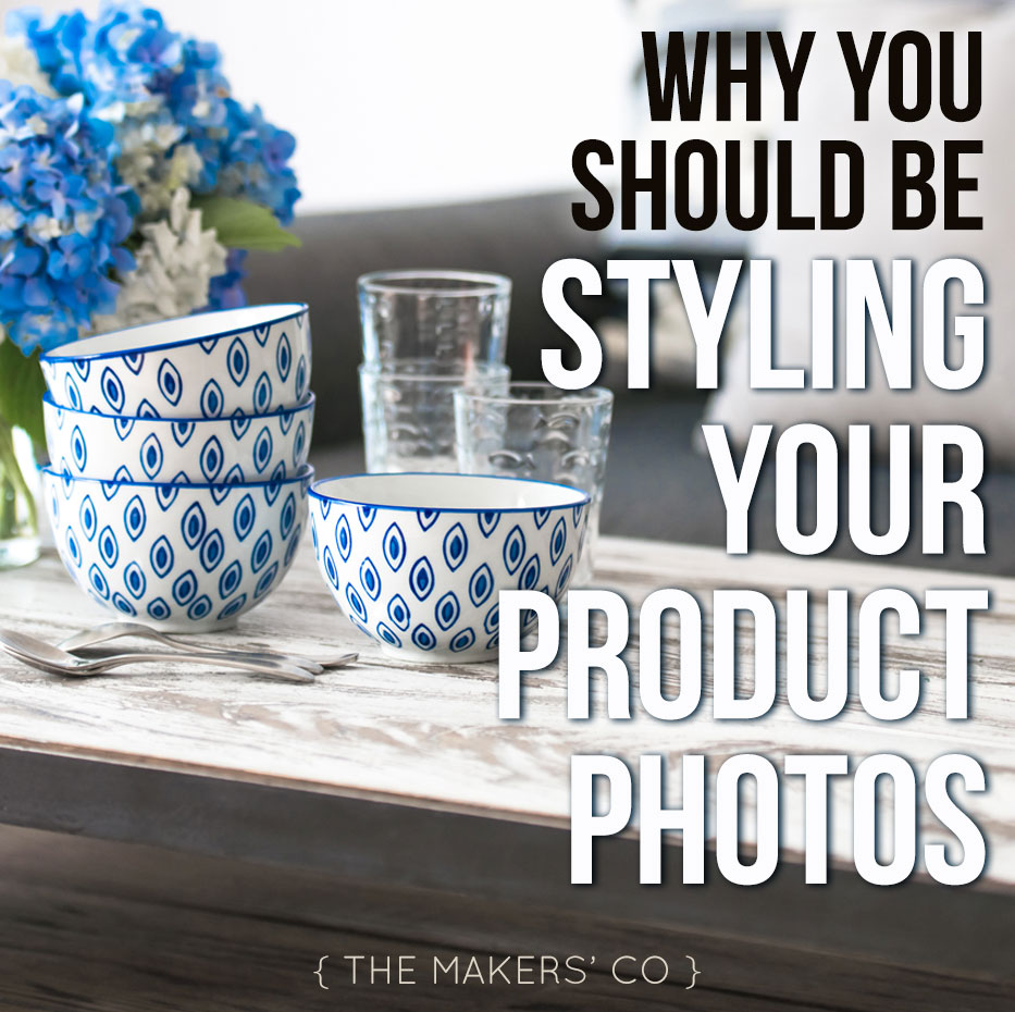 Product photography styling