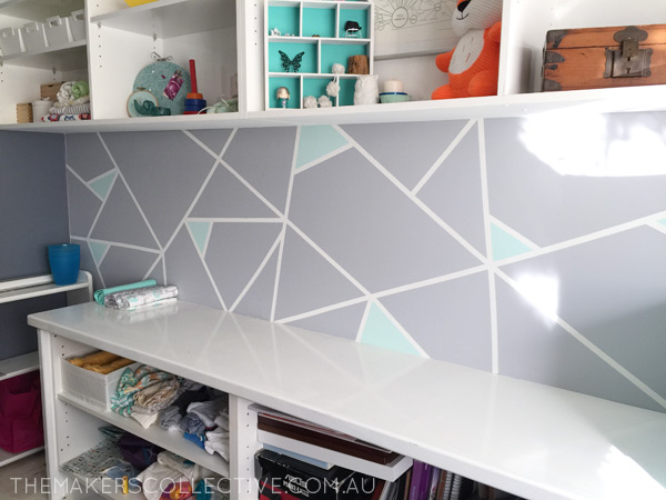 makeover geometric wall