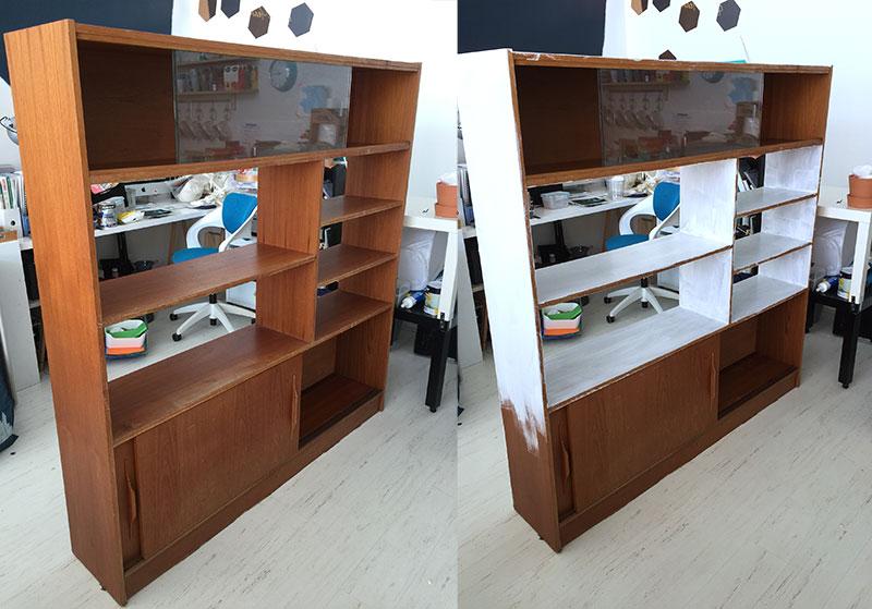 paint bookshelves