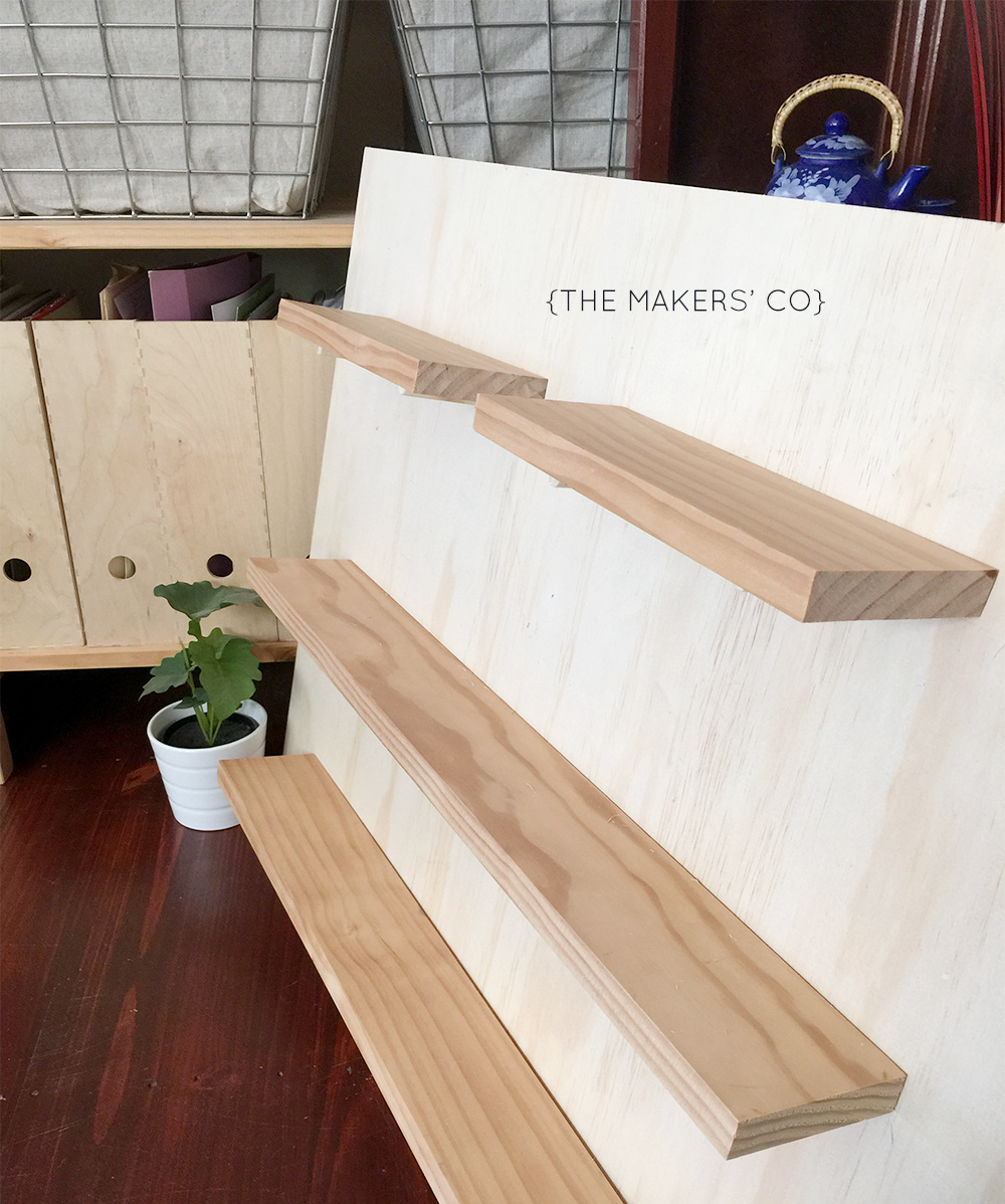 How to build your own market stall shelving