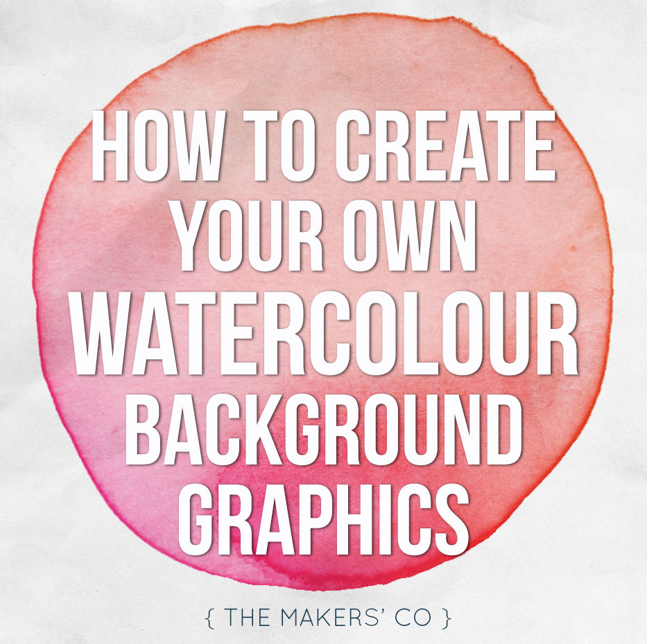 DIY watercolour graphics video tutorial