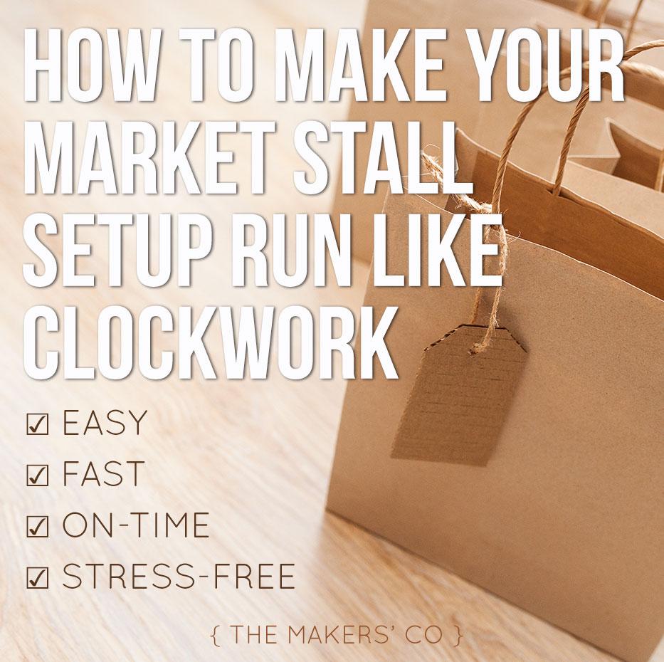 Market Stall Setup checklist