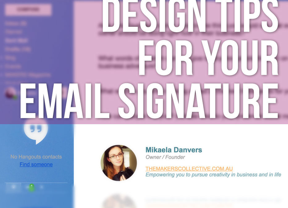 Design tips for your business email signature