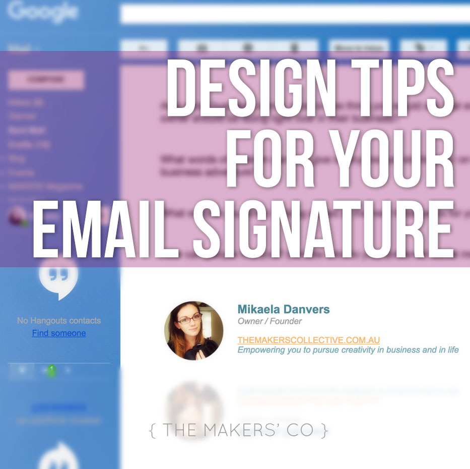 Design tip for your email signature