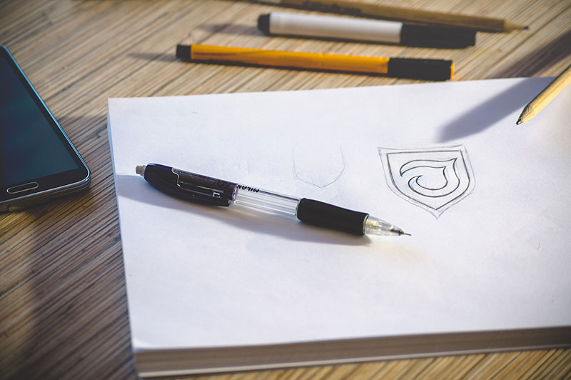 Logo Design concept sketch