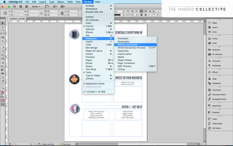 How to create in interactive PDF