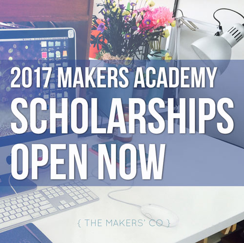 2017 Makers Academy Scholarships