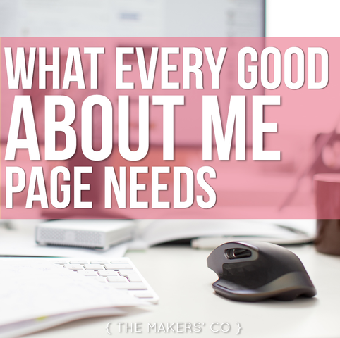What Every Good About Me Page Needs